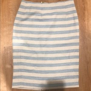 Lilly Pulitzer blue and white pencil skirt